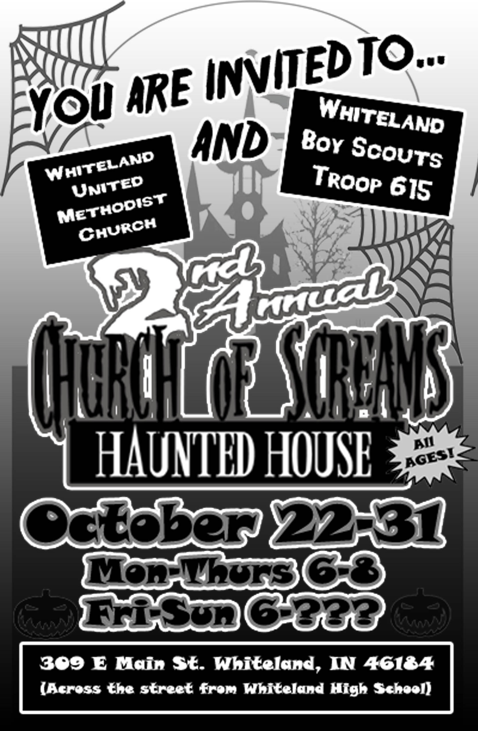 Cub Scouts 50 Halloween Haunted House 2020 CHURCH OF SCREAMS   [2020] FrightFind