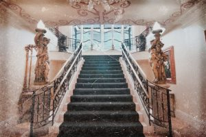 Haunted Le Pavillon Hotel staircase in New Orleans