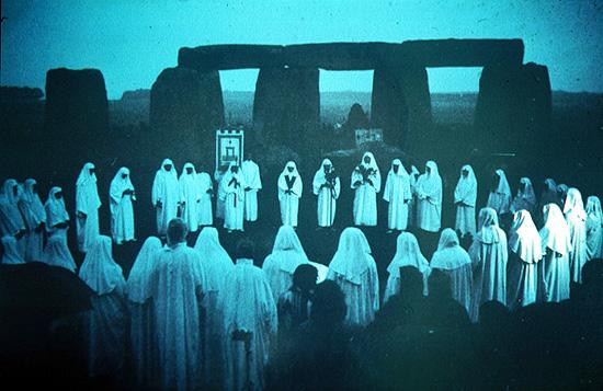 Druids worship Samhain