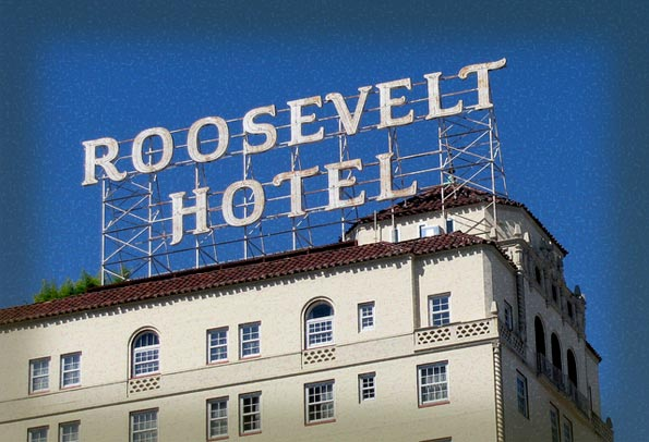 Image of the Roosevelt Hotel's iconic sign