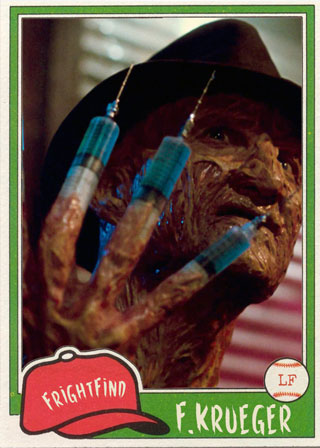 Freddy Krueger - All Horror All Star Baseball Team