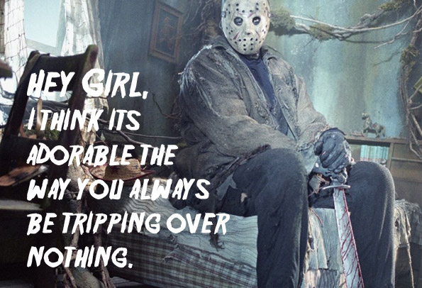 Tripping on Friday the 13th - Voorhees