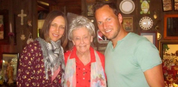 Lorraine Warren with Vera Farmiga & Patrick Wilson