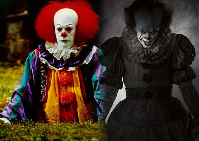 Pennywise Comparison: Curry versus Skarsgard