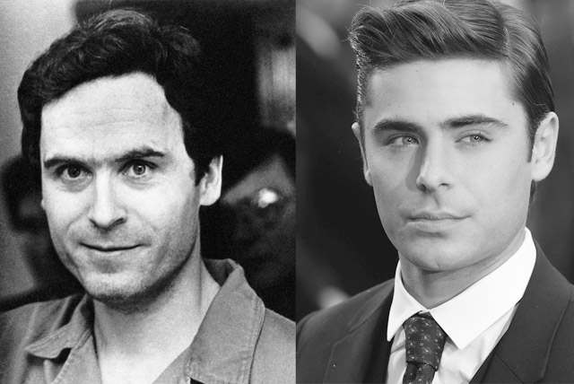 Zac Efron playing Ted Bundy