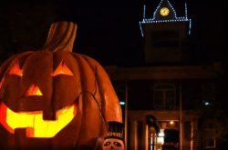 Halloweentown in St Helens, Oregon Giant Pumpkin Lighting
