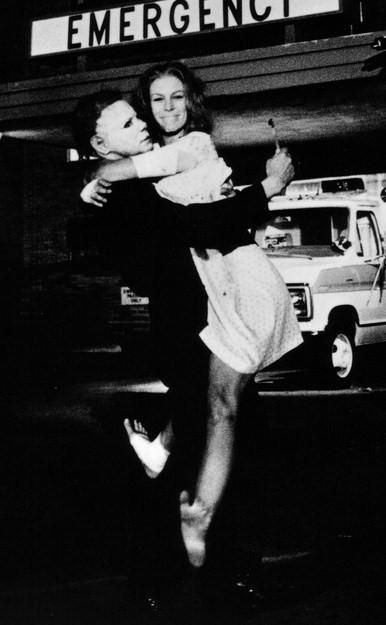 Jamie Lee Curtis and Nick Castle