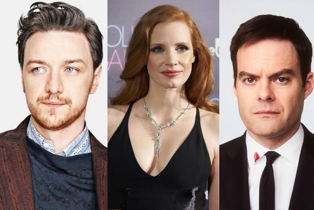 Chastain, McAvoy and Hader starring in It: Chapter Two