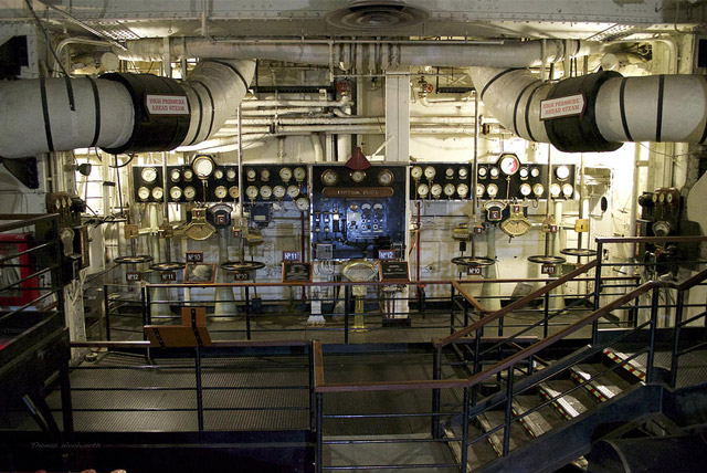 The Haunted Queen Mary Engine Room