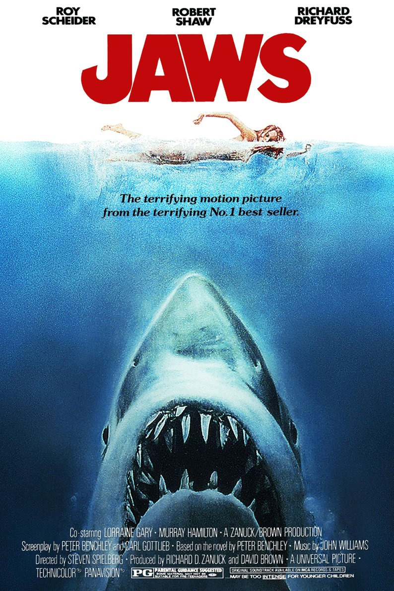 Jaws Original Movie Poster by Roger Kastel
