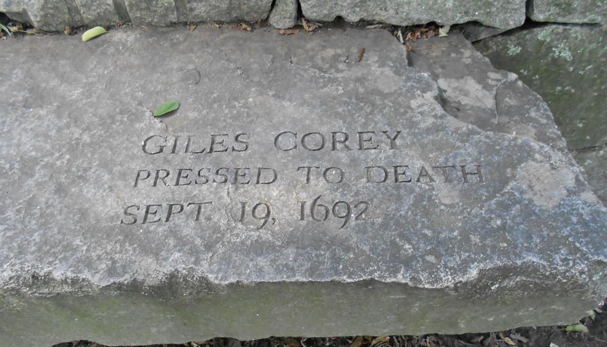 Giles Corey Tombstone