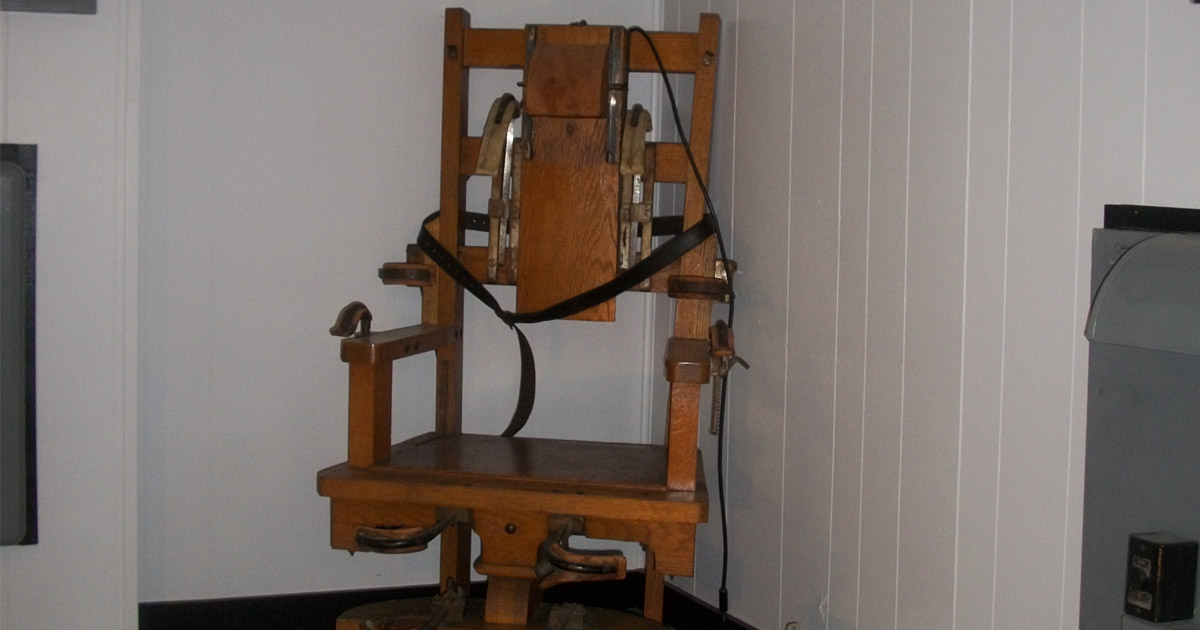 Old Sparky at West Virginia Penitentiary