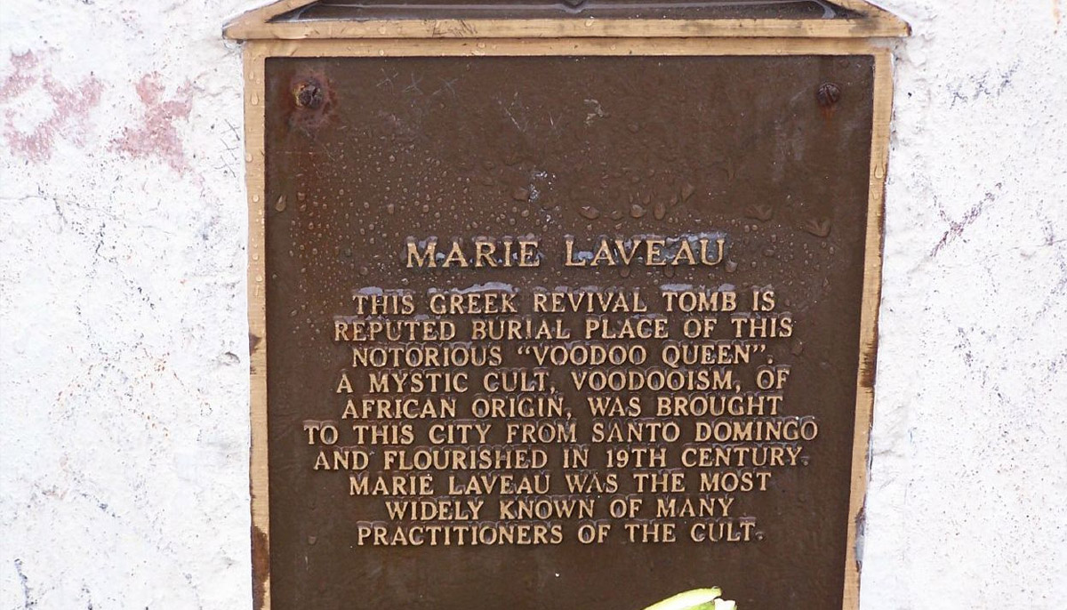 The Tomb of Marie Laveau - St/ Louis Cemetery number 1